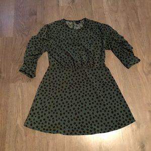 Who What Wear Green PolkaDot Dress Size Large